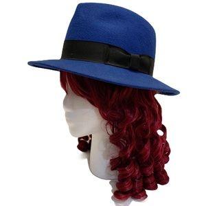100% Wool Stunning Blue Fedora